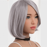 6YE Premium Wig Option - Short straght white Hair