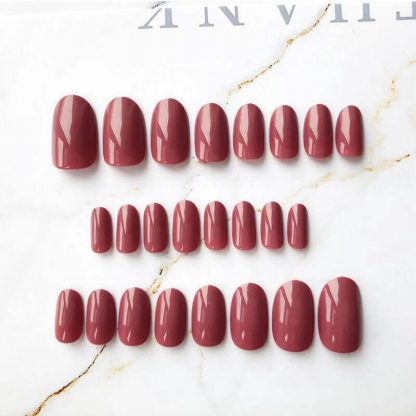 dark red fake nails tpe dolls