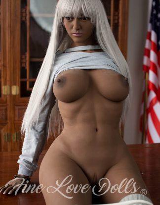 Ebony siliconen Sex Doll