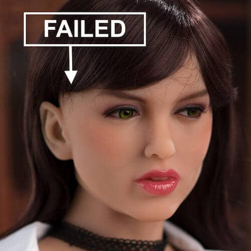 failed tpe doll wig placement